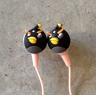angry birds earbuds