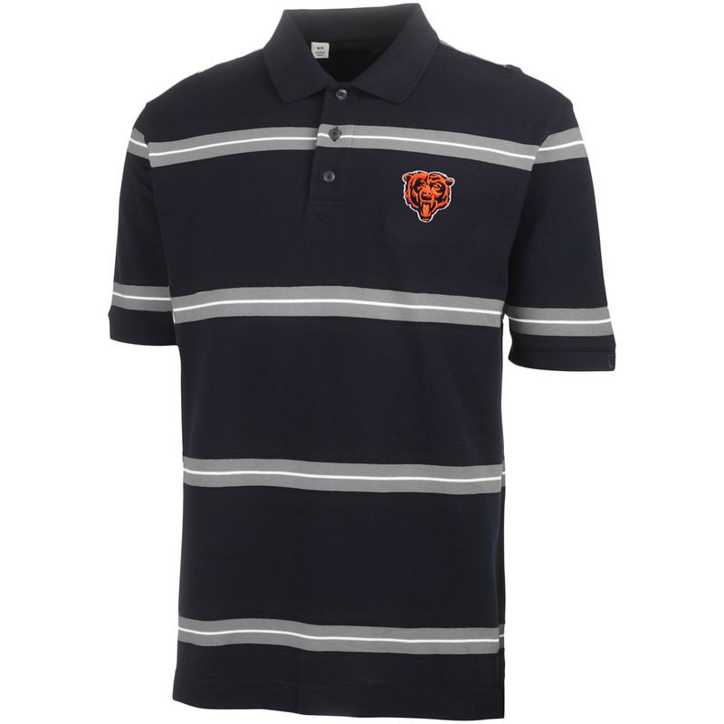 22754a2b Chicago Bears Cutter & Buck Pique Montgomery Stripe Polo - Navy Blue ...