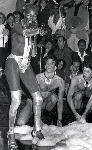 Ron Galella Disco NYC: Grace Jones performs at Steve Rubell's party at Studio 54