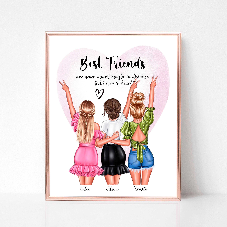 Best Friend BFF Bestie Wall PrintSign Personalised Custom Keepsake Gift Birthday Christmas Printable Digital File ONLY