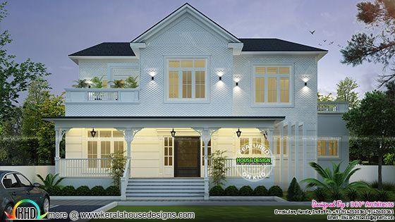 Roman Style Home Plan Kerala Home Design Kerala House Design Double Storey House Plans House Elevation