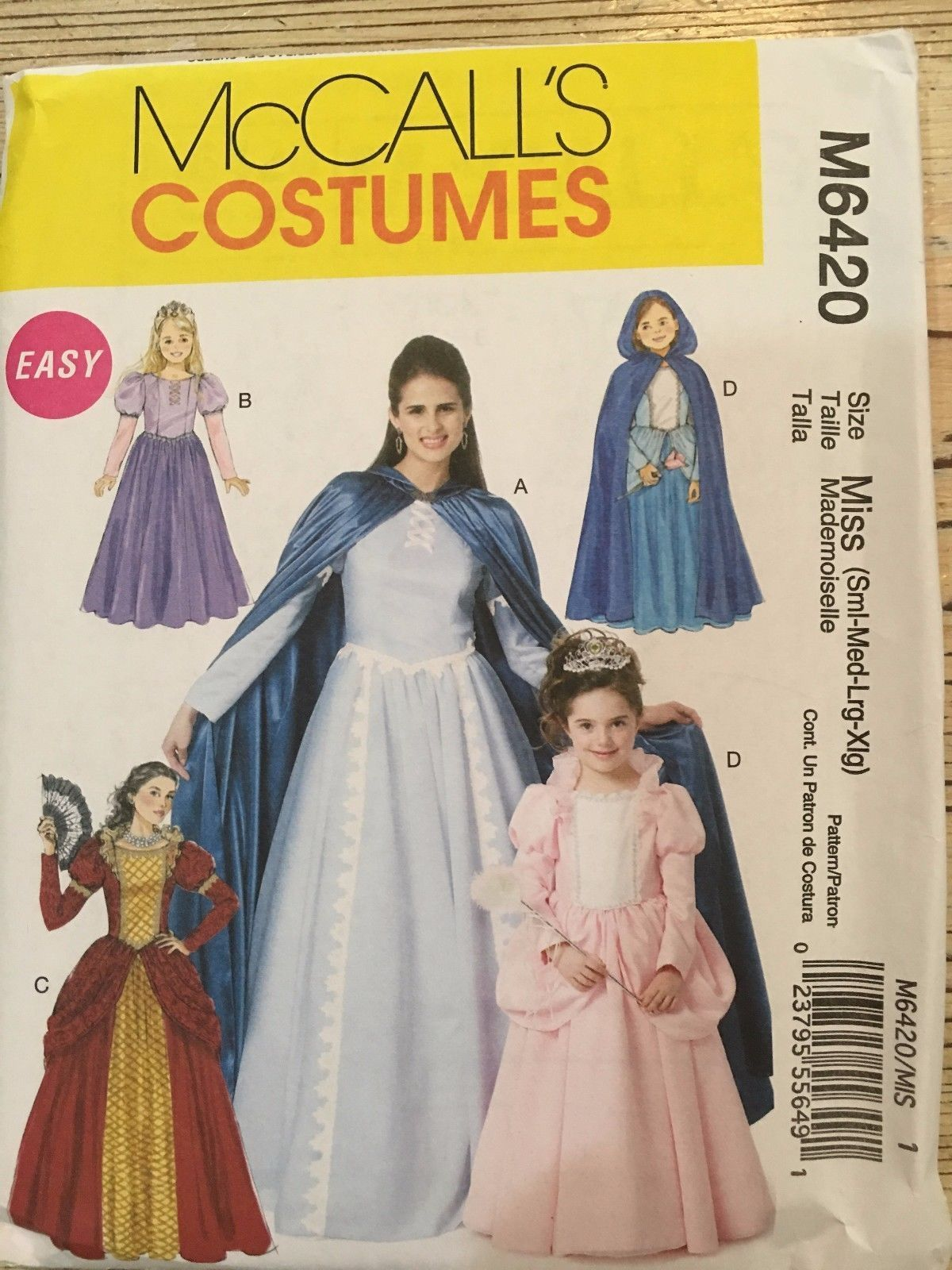 Easy - McCall\'s Pattern M6420 Princess Costumes - Misses (S-XL) and ...