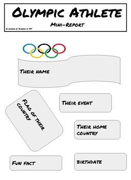 Olympics Mini Biography Poster Report (With images