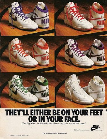 sports shoes acd8f cade5 Vintage Nike ad   Nike Ads   Shoes ads, Nike ad, Vintage nike