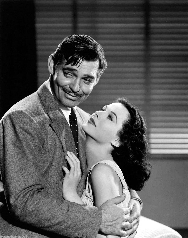 Clark Gable holding the gorgeous Hedy Lamarr