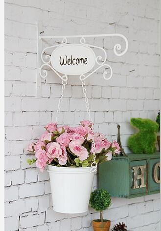 American pastoral style wrought iron hanging baskets 1pc wall pot planter baskets on sale at reasonable prices buy american pastoral style wrought iron hanging baskets wall pot garden pots planters from mobile site on workwithnaturefo