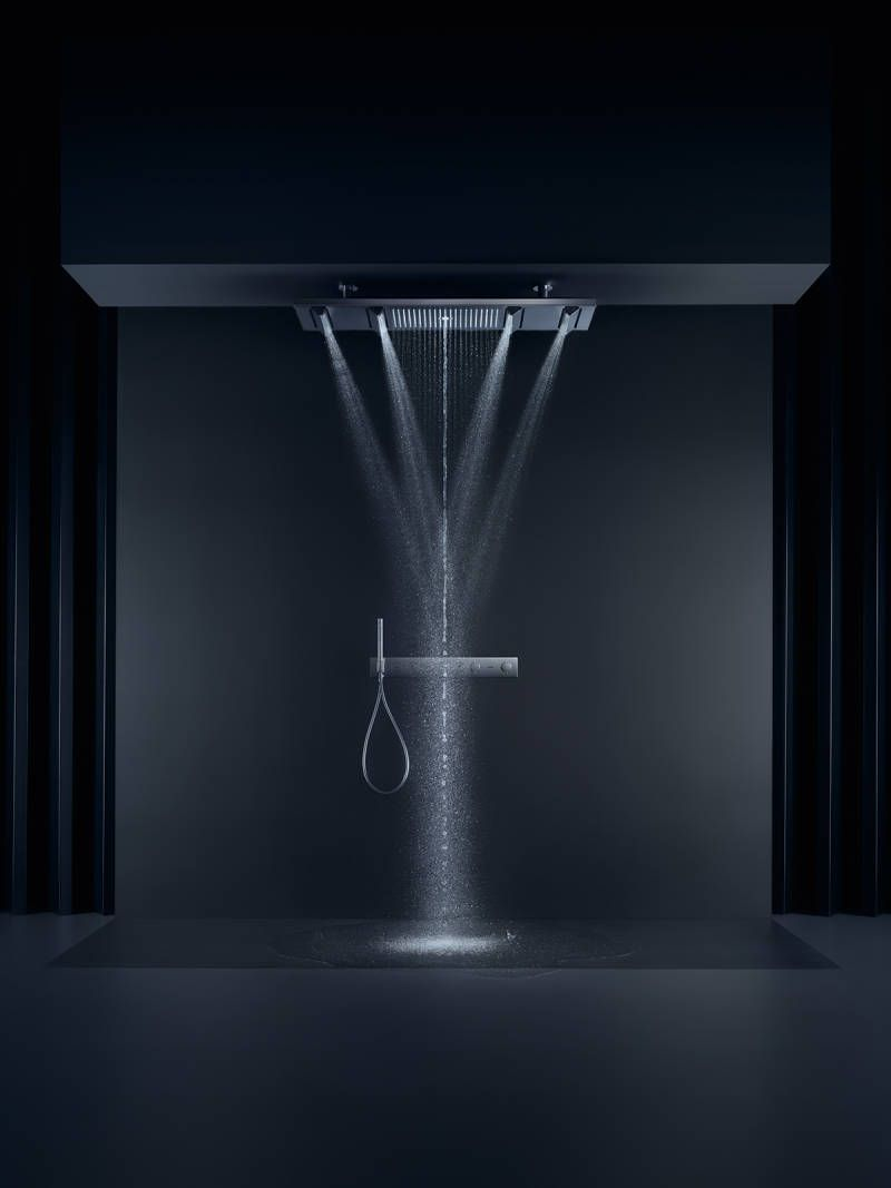 Photo of The perfect luxury overhead shower. AXOR ShowerHeaven. Including AXOR PowderRain…