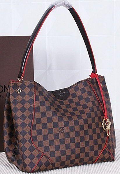 Louis Vuitton Damier Ebene CAISSA HOBO Bag N41555 Cherry  cb11ade2b2fed