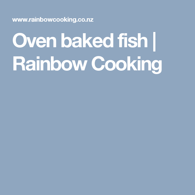 Oven baked fish Rainbow Cooking Oven baked fish, Oven