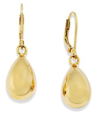 Giani Bernini 24k Gold Over Sterling Silver Earings Double Teardrop Earrings