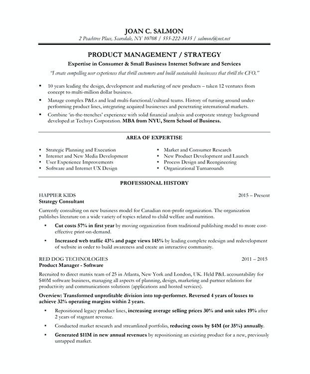 Product Manager Resume Template , Product Manager Resume Template - canadian resume templates free