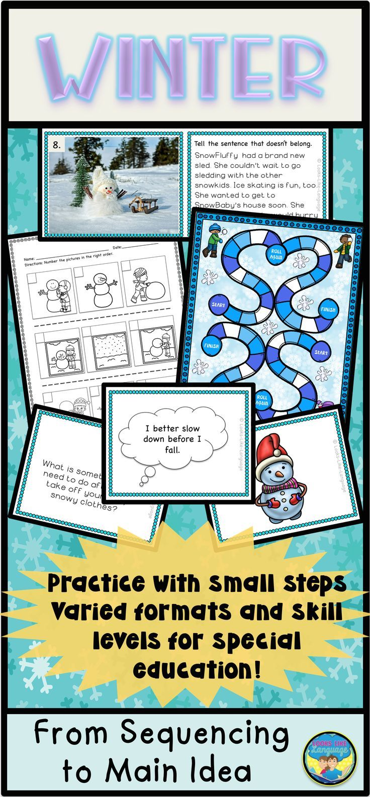 Sequencing Activities with Digital Option: Winter Theme | Special ...