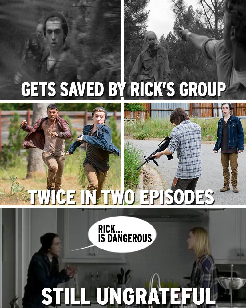 Ugh right. Rick's my friend.