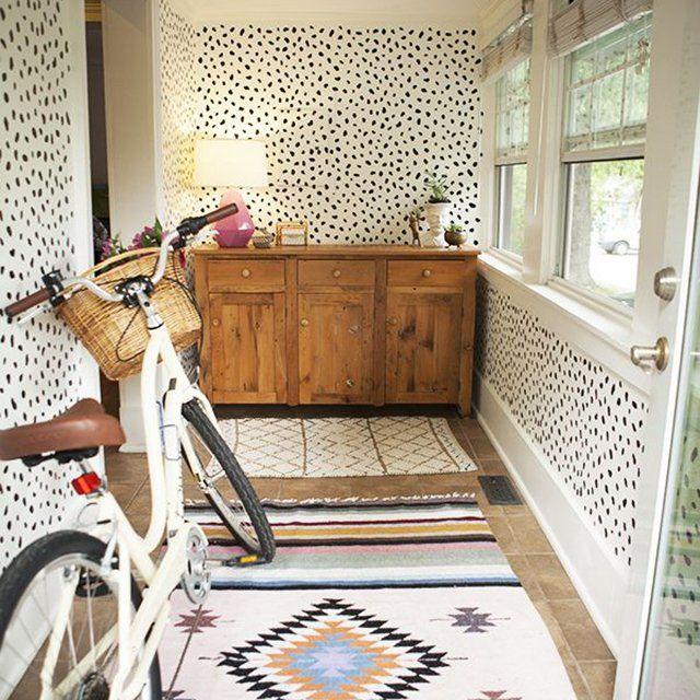 Fancy Black & White Cheetah Print Peel & Stick Wallpaper