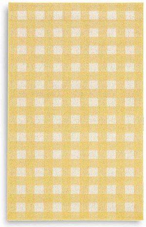 Karastan French Check Yellow 357 29424 Area Rug