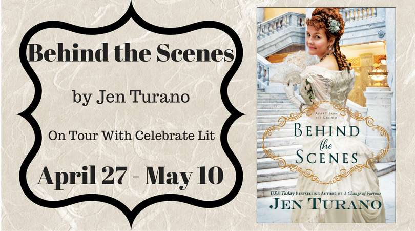 About the Book: Behind the Scenes Written by: Jen Turano Publisher: Bethany House Publishers Month, Year: April, 2017 Amazon | CBD | B+N Miss Permilia Griswold may have been given the opport…