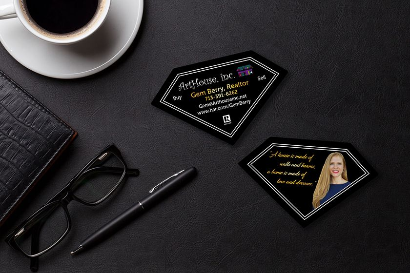 Diamond shaped business cards business cards pinterest diamond shaped business cards colourmoves