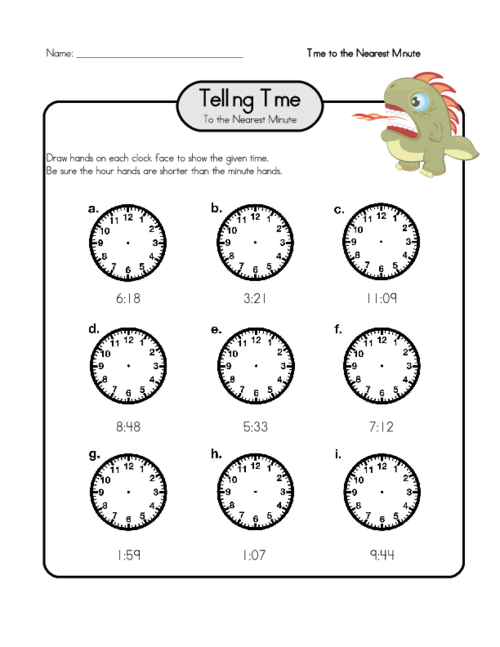 draw hands on a clock 2 telling time worksheets math for kids worksheets telling time. Black Bedroom Furniture Sets. Home Design Ideas