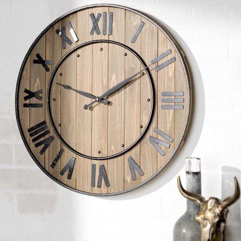 Northrop Wine Barrel 24 Wall Clock Reviews Allmodern Oversized Wall Clock