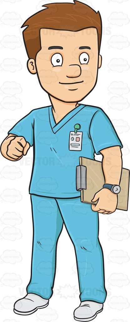 A Male Nurse In Scrubs Holding A Clipboard Nurse Cartoon Male Nurse Nurse