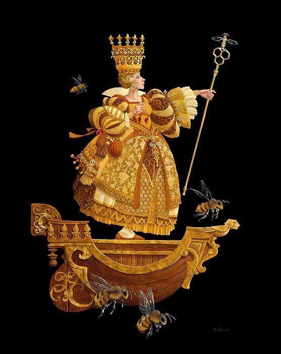 James C Christensen Queen Bea Limited Edition Canvas