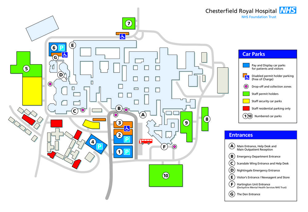 Chesterfield Royal Hospital Map PCT Corridor Plan   Location Maps | Way finding   Graphic Design Chesterfield Royal Hospital Map