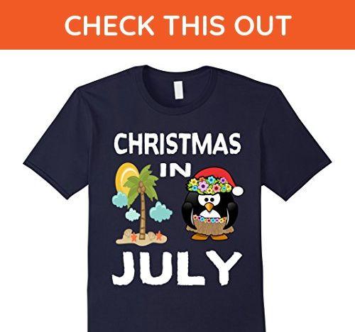 Mens Christmas In July T Shirt Medium Navy - Holiday and seasonal shirts (*Amazon Partner-Link)