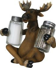 Moose Salt & Pepper Shaker Set,Collectible,Riversedge 578