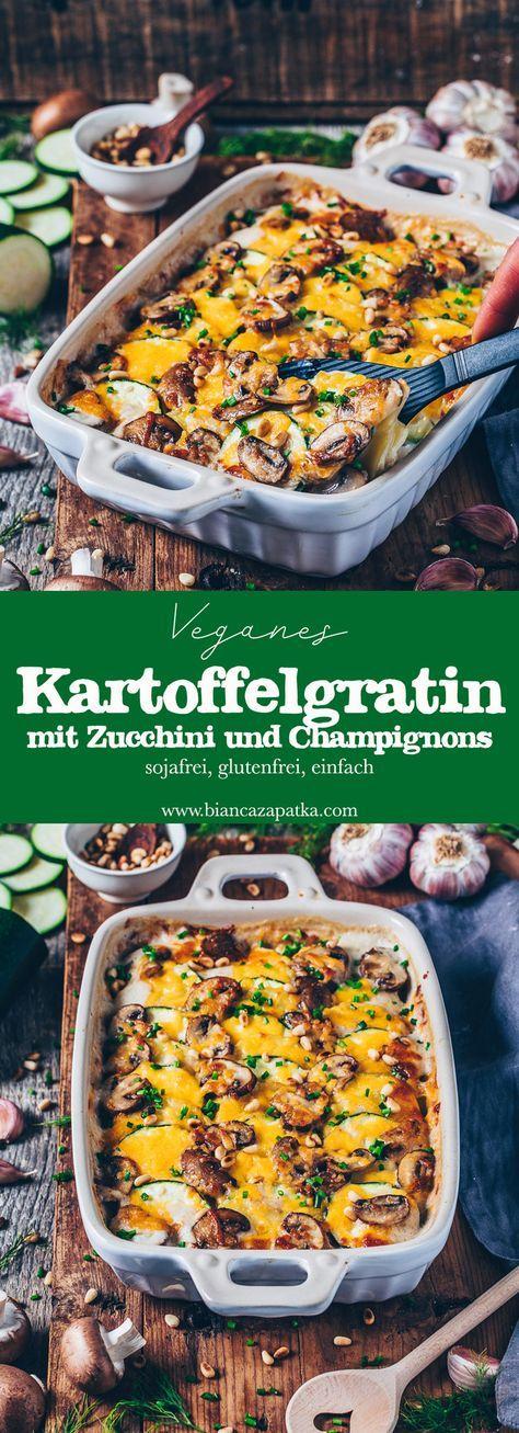 Veganes Kartoffelgratin (cremiger Kartoffelauflauf) - Bianca Zapatka | Rezepte #vejetaryentarifleri