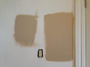 Shaker Beige Left Vs Stone House Right Beige Wall Colors Shaker Beige Painting Bathroom