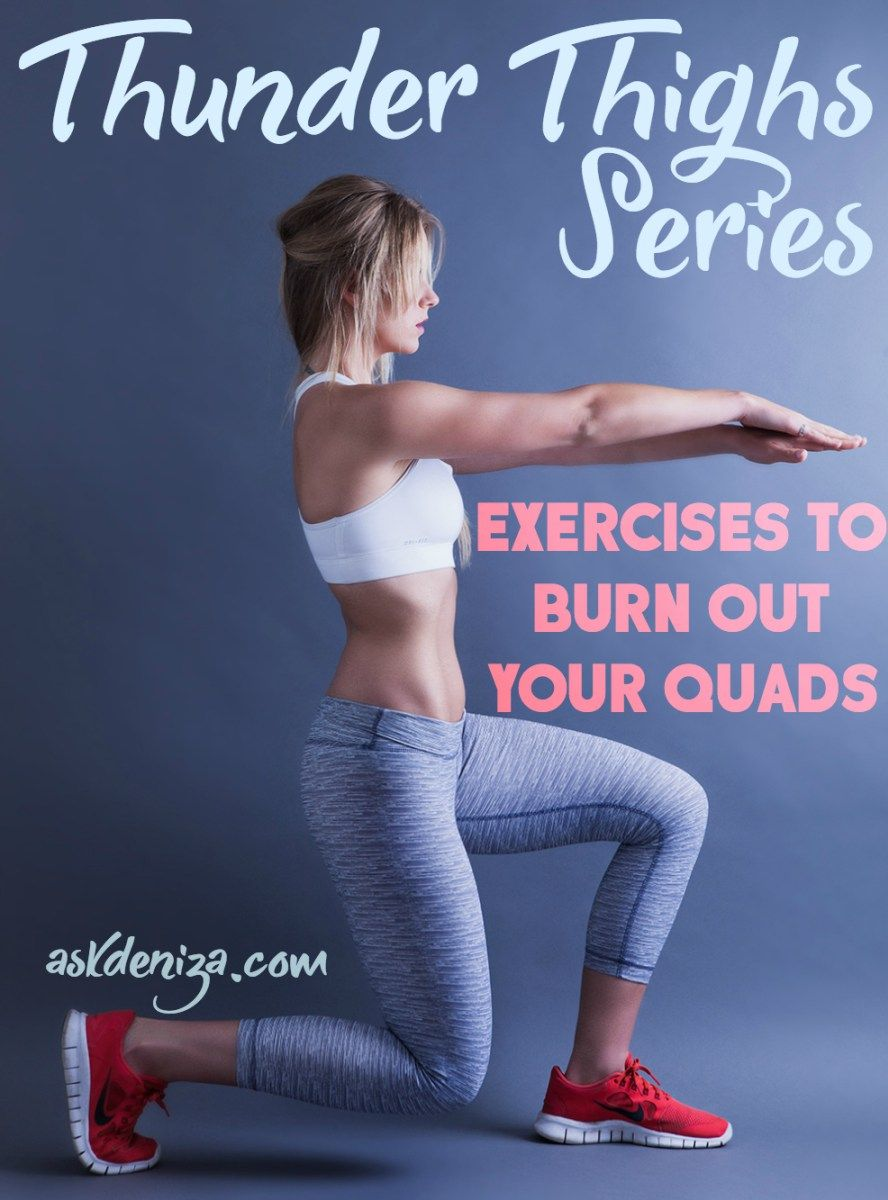 These are the best exercises to target the front of your thighs - the quads. They will also work your inner and outer thighs and glutes and help burn a lot of calories to shape your legs! @askdeniza