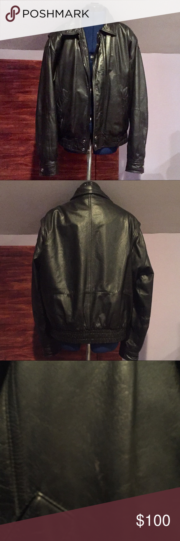 Wilsons Leather Black Bomber Jacket Wilsons leather