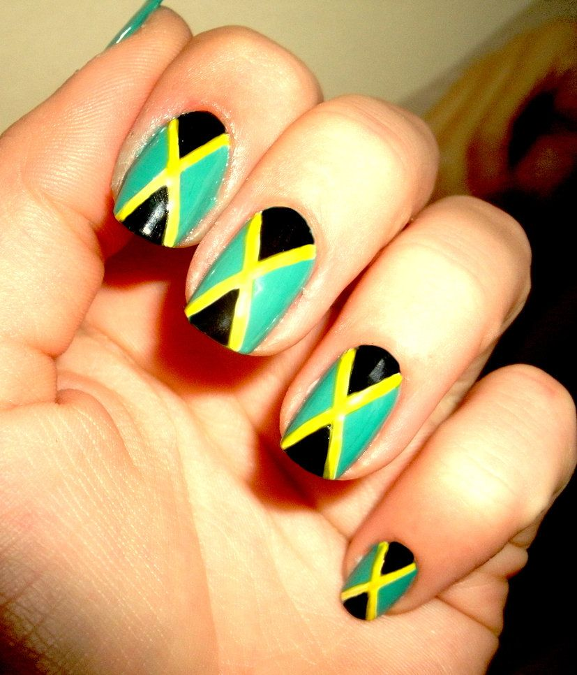 Jamaican nails | yaad business | Pinterest | Jamaica nails, Luxury ...
