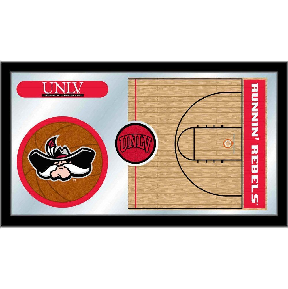 Unlv rebels basketball court mirror wall art basketball court and