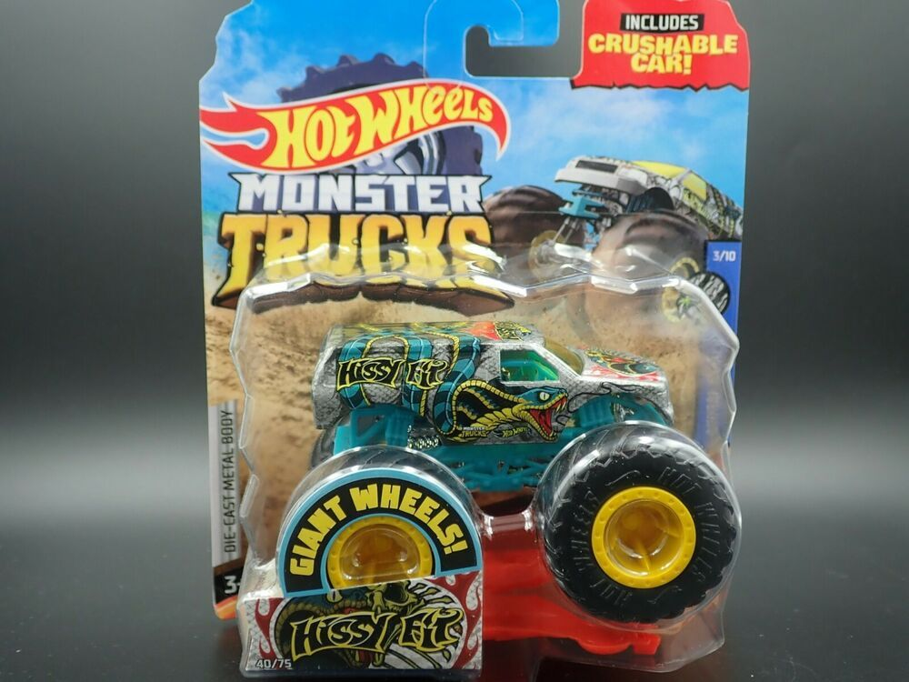 2020 Hot Wheels Monster Truck 1 64 Hissy Fit 40 75 Animal Attack 3 10 Case F Hotwheels Monstertruck In 2020 Monster Trucks Hot Wheels Hissy Fit