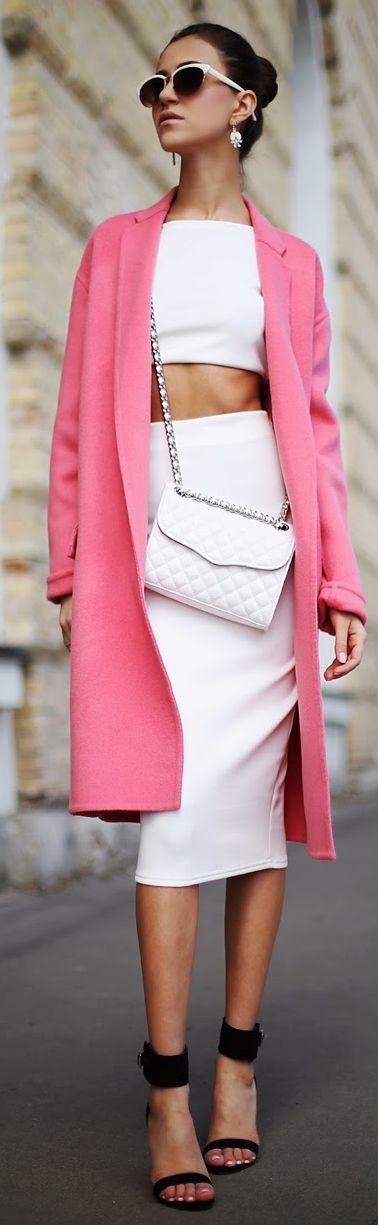 Fashion Confession Pink Tailored Coat by Tina Sizonova