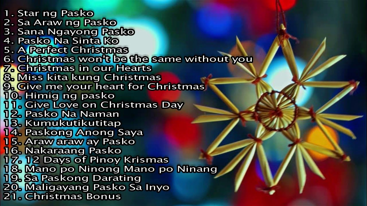 Paskong Pinoy Best OPM Christmas Songs Nonstop (20182019