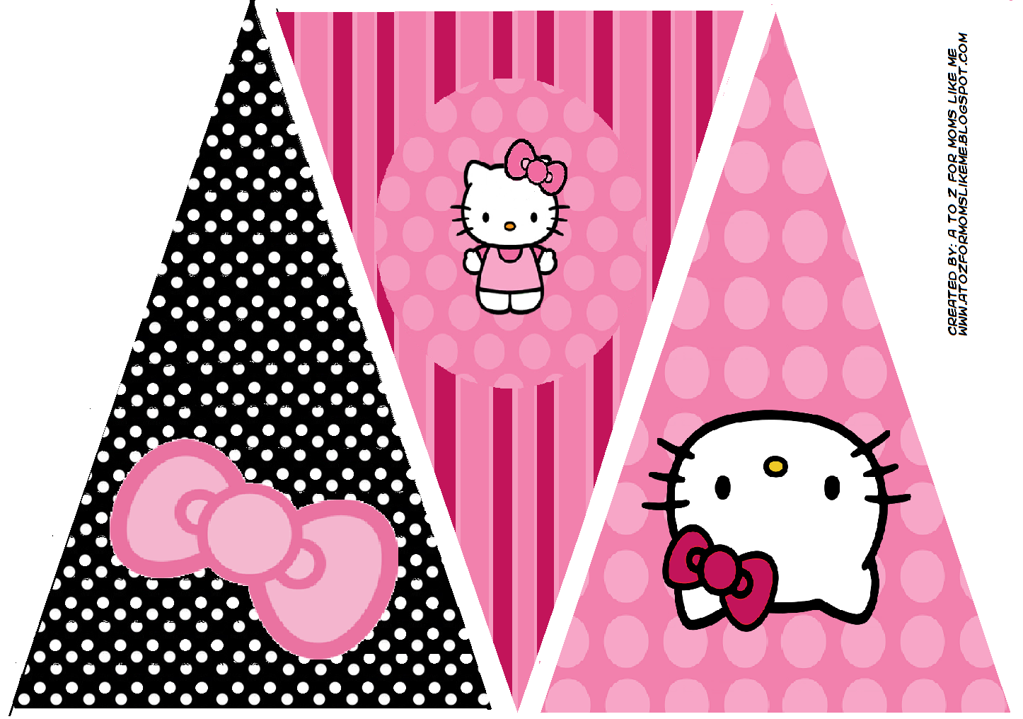 Hello Kitty Birthday Party Banner This Is One Of 2 Printable Designs For A