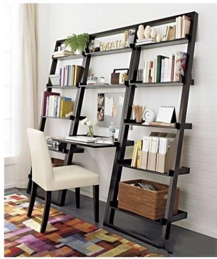 Space Saving Bookshelf Great Idea For A Small Office Area