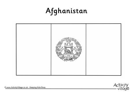 Afghanistan flag colouring page CS Afghanistan Pinterest