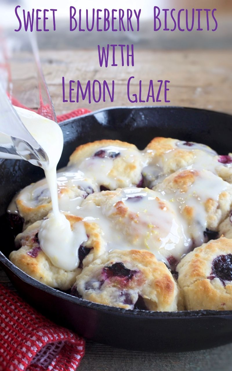 Sweet Blueberry Biscuits with Lemon Glaze - My Cou