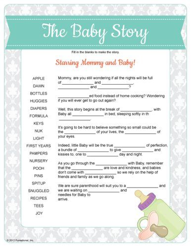 Fill In The Blanks Of This Baby Shower Candy Poem Using The Names Of  Popular Candy. This Fun Alternative To The Popular Baby Shower Candy Bar Story  Game Was ...
