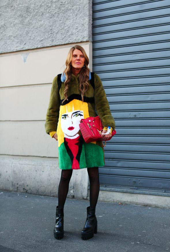 AdR rocking Prada. Milan. #AnnaDelloRusso #TamuMcPherson