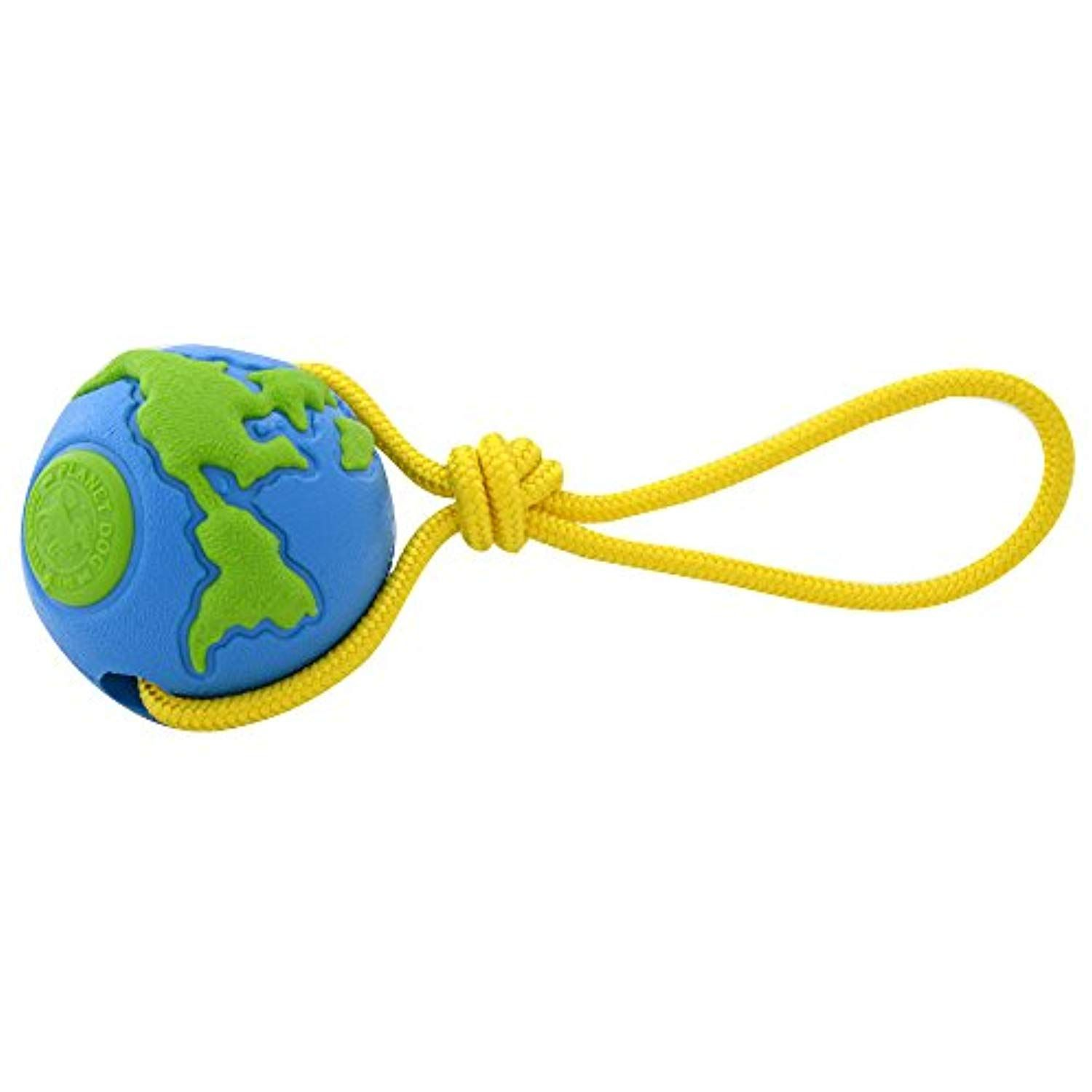 Planet Dog Orbee Ball Planet Ball With Rope Interactive Durable