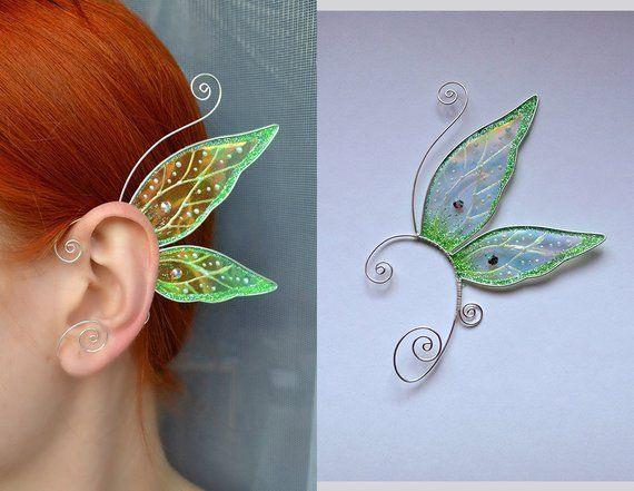 Photo of Butterfly ear cuffs, wing ear jewelry, wing ear jewelry, jewelry, …