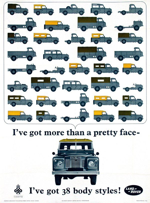 Poster By Anonymous Land Rover 38 Body Styles 1966 Land Rover