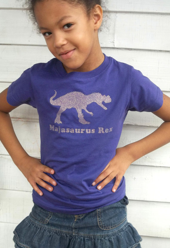 ced73818 Personalized sparkle girl dinosaur birthday t shirt featuring T-rex and fun  dinosaur name, glitter dinosaur shirt on Etsy, $20.00