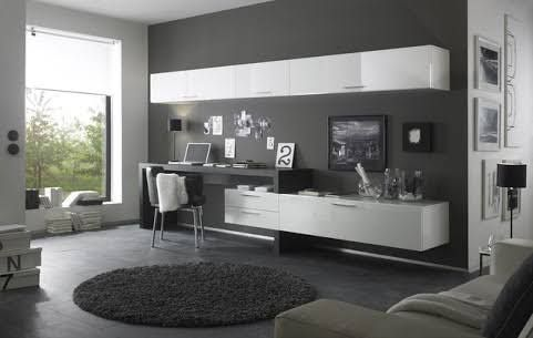 Image Result For Wall Unit Desk Combo Modern