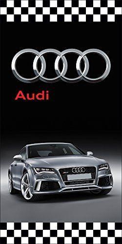 Audi auto dealer vertical avenue pole banner signs