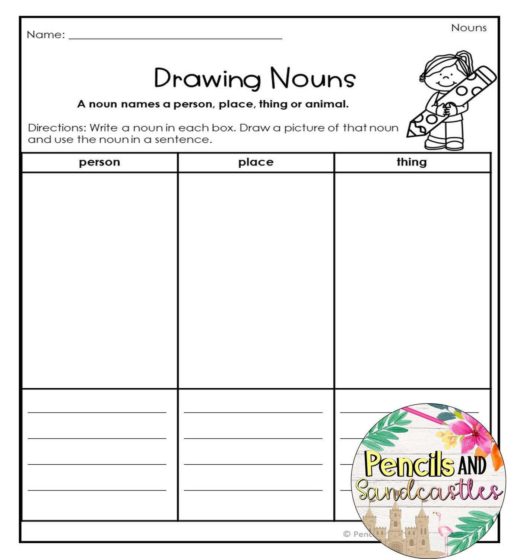 Nouns No Prep Worksheets Writing Skills Grammar Skills Nouns